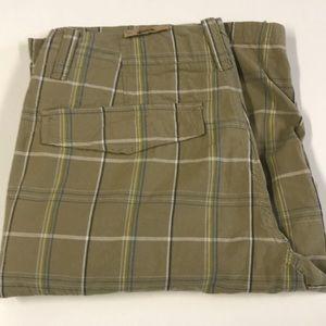 🆕 ROUTE 66 Mens 34 Tan Plaid Long Shorts